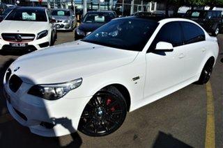 2009 BMW 5 Series E60 MY08 520d Steptronic White 6 Speed Sports Automatic Sedan.