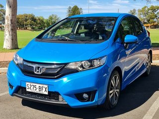 2014 Honda Jazz GF MY15 VTi-L Blue 1 Speed Constant Variable Hatchback.