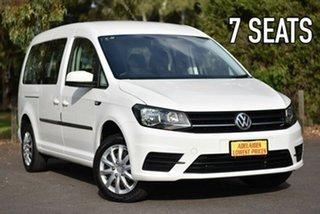 2017 Volkswagen Caddy 2KN MY18 TSI220 Maxi DSG White 7 Speed Sports Automatic Dual Clutch Van.