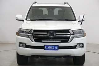 2020 Toyota Landcruiser VDJ200R Sahara Horizon Pearl White 6 Speed Sports Automatic Wagon.
