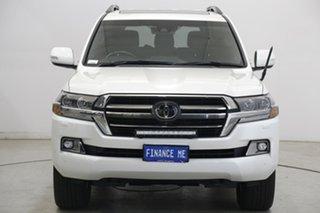 2020 Toyota Landcruiser VDJ200R Sahara Horizon Pearl White 6 Speed Sports Automatic Wagon.