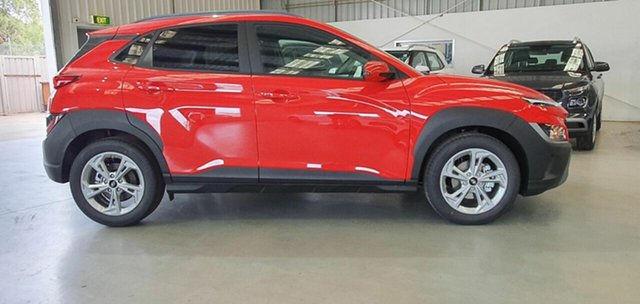Demo Hyundai Kona Os.v4 MY21 Active 2WD Epsom, 2021 Hyundai Kona Os.v4 MY21 Active 2WD Ignite Flame 8 Speed Constant Variable Wagon