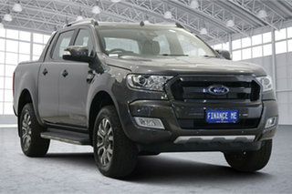 2017 Ford Ranger PX MkII 2018.00MY Wildtrak Double Cab Meteor Grey 6 Speed Sports Automatic Utility.