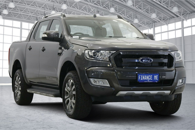 Used Ford Ranger PX MkII 2018.00MY Wildtrak Double Cab Victoria Park, 2017 Ford Ranger PX MkII 2018.00MY Wildtrak Double Cab Meteor Grey 6 Speed Sports Automatic Utility