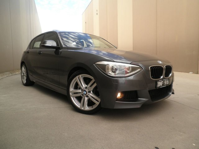 Used BMW 1 Series F20 118i Cheltenham, 2012 BMW 1 Series F20 118i Pearl Grey 8 Speed Sports Automatic Hatchback