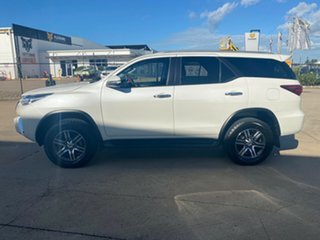 2017 Toyota Fortuner GUN156R GXL i-MT White/270317 6 Speed Manual Wagon