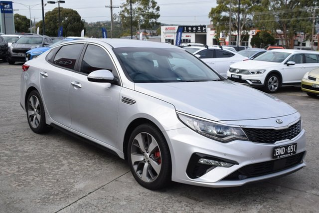 Used Kia Optima JF MY20 GT Ferntree Gully, 2019 Kia Optima JF MY20 GT Silky Silver 6 Speed Sports Automatic Sedan