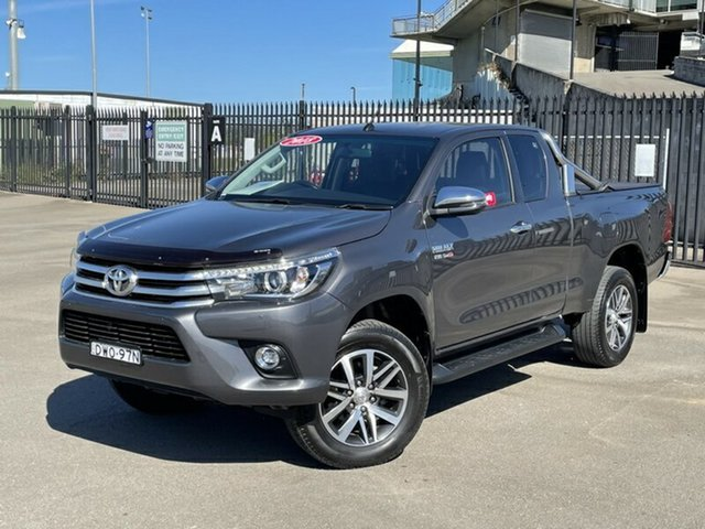 Used Toyota Hilux GUN126R SR5 Extra Cab Newcastle, 2018 Toyota Hilux GUN126R SR5 Extra Cab Grey 6 Speed Sports Automatic Utility
