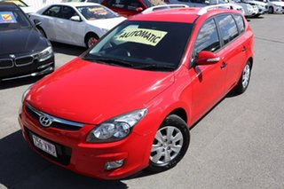 2010 Hyundai i30 FD MY11 SX cw Wagon Red 4 Speed Automatic Wagon.