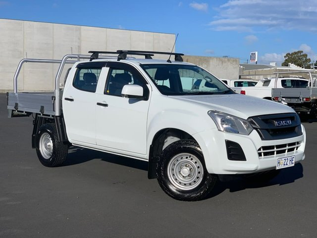 Used Isuzu D-MAX MY17 SX Crew Cab 4x2 High Ride Moonah, 2017 Isuzu D-MAX MY17 SX Crew Cab 4x2 High Ride White 6 Speed Sports Automatic Cab Chassis