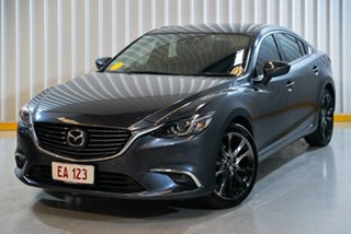 2016 Mazda 6 GJ1032 Atenza SKYACTIV-Drive Grey 6 Speed Sports Automatic Sedan.