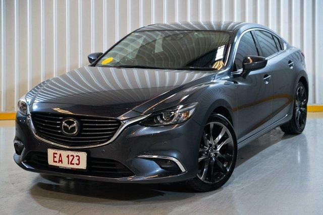 Used Mazda 6 GJ1032 Atenza SKYACTIV-Drive Hendra, 2016 Mazda 6 GJ1032 Atenza SKYACTIV-Drive Grey 6 Speed Sports Automatic Sedan