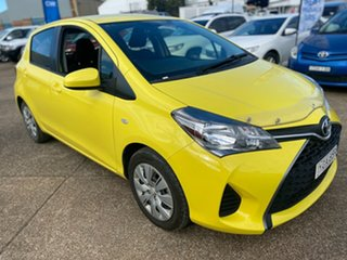 2015 Toyota Yaris NCP130R Ascent Yellow 5 Speed Manual Hatchback.