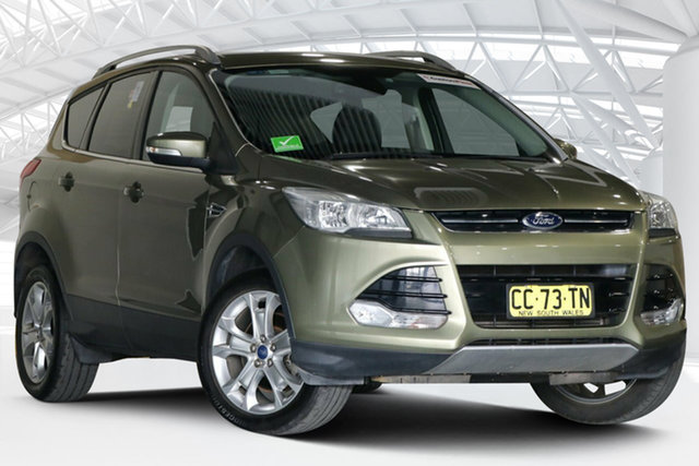 Used Ford Kuga TF MY15 Trend AWD Moorebank, 2015 Ford Kuga TF MY15 Trend AWD Ginger Ale 6 Speed Sports Automatic Wagon