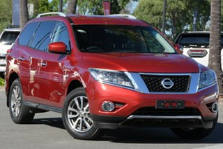 2015 Nissan Pathfinder R52 MY15 ST X-tronic 2WD Red 1 Speed Constant Variable Wagon Hybrid.