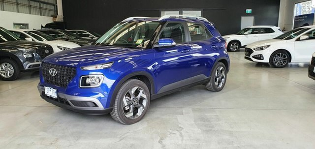 Demo Hyundai Venue QX MY20 Active Epsom, 2020 Hyundai Venue QX MY20 Active Intense Blue 6 Speed Automatic Wagon