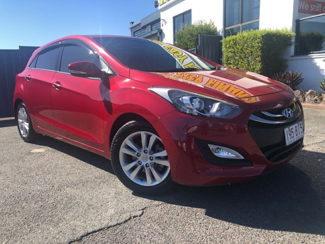 Used Hyundai i30 GD2 MY14 Trophy Slacks Creek, 2014 Hyundai i30 GD2 MY14 Trophy Red 6 Speed Manual Hatchback