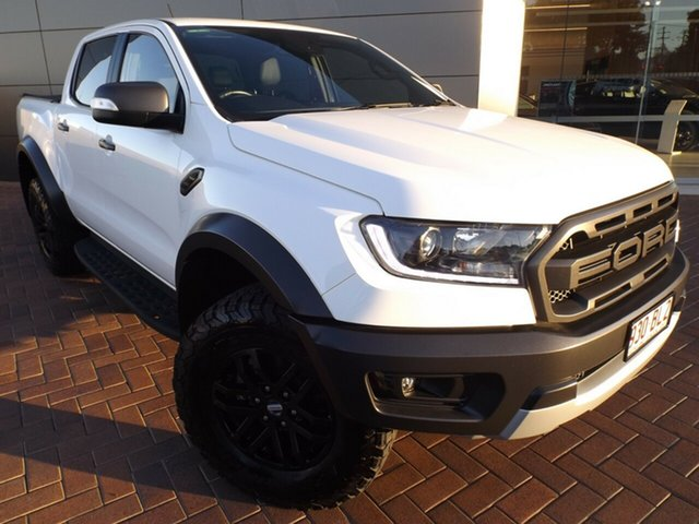 Used Ford Ranger PX MkIII 2019.00MY Raptor Toowoomba, 2019 Ford Ranger PX MkIII 2019.00MY Raptor White 10 Speed Sports Automatic Double Cab Pick Up