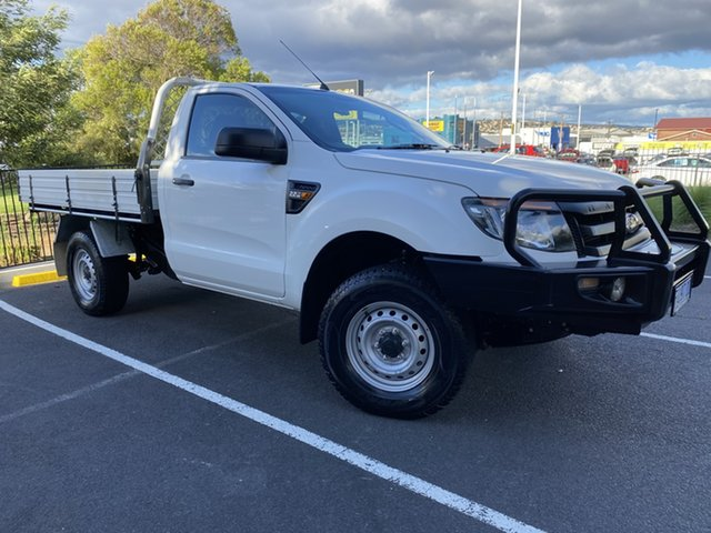 Used Ford Ranger PX XL Hi-Rider Glenorchy, 2014 Ford Ranger PX XL Hi-Rider White 6 Speed Sports Automatic Cab Chassis