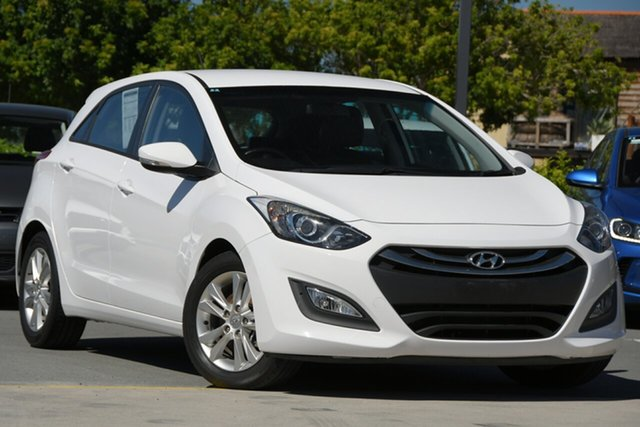 Used Hyundai i30 GD2 MY14 Trophy Aspley, 2013 Hyundai i30 GD2 MY14 Trophy White 6 Speed Sports Automatic Hatchback