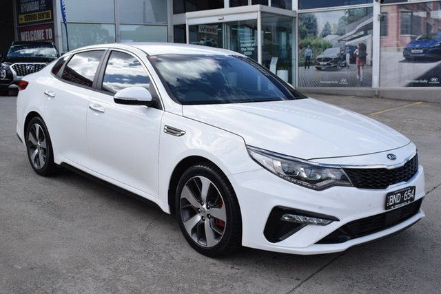 Used Kia Optima JF MY20 GT Ferntree Gully, 2019 Kia Optima JF MY20 GT White 6 Speed Sports Automatic Sedan