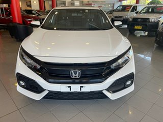 2019 Honda Civic 10th Gen MY18 VTi-LX White 1 Speed Constant Variable Hatchback.