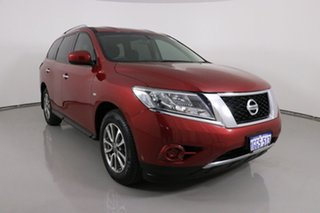 2015 Nissan Pathfinder R52 MY15 ST (4x2) Red Continuous Variable Wagon.