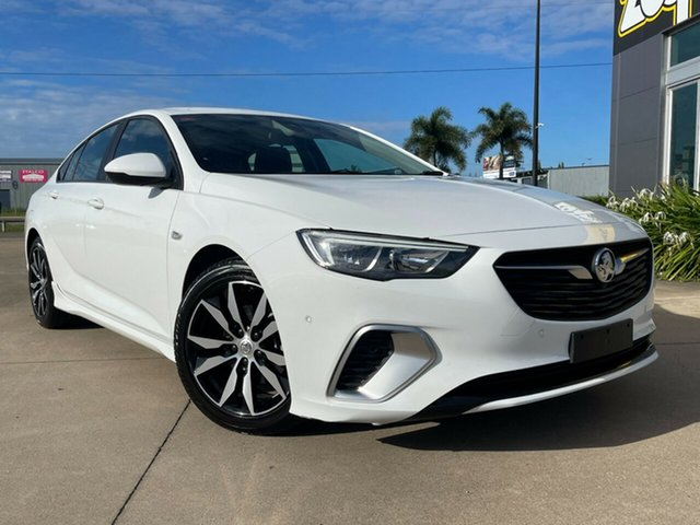 Used Holden Commodore ZB MY18 RS Liftback Townsville, 2018 Holden Commodore ZB MY18 RS Liftback White/160519 9 Speed Sports Automatic Liftback