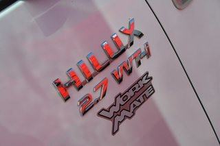 2008 Toyota Hilux TGN16R MY08 Workmate 4x2 White 5 Speed Manual Cab Chassis