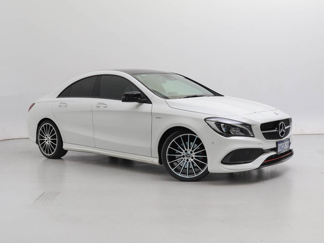 Used Mercedes-Benz CLA250 117 MY18.5 Sport 4Matic, 2019 Mercedes-Benz CLA250 117 MY18.5 Sport 4Matic White 7 Speed Auto Dual Clutch Coupe