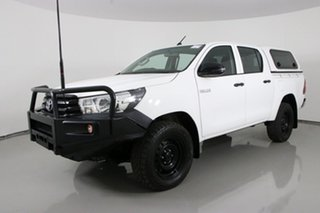 2018 Toyota Hilux GUN125R MY17 Workmate (4x4) White 6 Speed Automatic Dual Cab Utility.