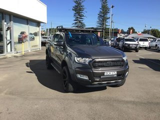 2016 Ford Ranger PX MkII Wildtrak Double Cab Graphite 6 Speed Sports Automatic Utility.
