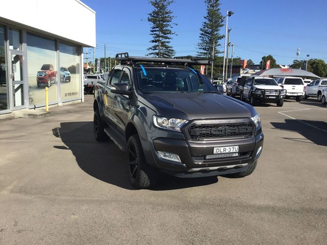 Pre-Owned Ford Ranger PX MkII Wildtrak Double Cab Cardiff, 2016 Ford Ranger PX MkII Wildtrak Double Cab Graphite 6 Speed Sports Automatic Utility