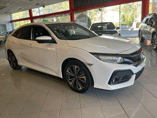 2019 Honda Civic 10th Gen MY18 VTi-LX White 1 Speed Constant Variable Hatchback.
