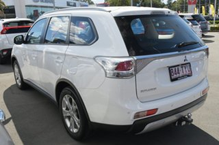 2014 Mitsubishi Outlander ZJ MY14.5 ES 4WD White 6 Speed Constant Variable Wagon.
