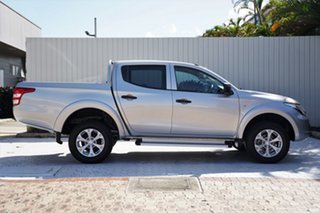 2016 Mitsubishi Triton MQ MY17 GLX Double Cab Sterling Silver 6 Speed Manual Utility