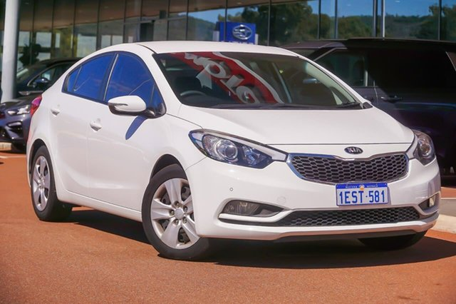 Used Kia Cerato YD MY15 S Gosnells, 2015 Kia Cerato YD MY15 S White 6 Speed Sports Automatic Sedan