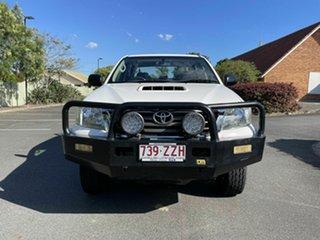 2012 Toyota Hilux KUN26R SR White 5 Speed Manual Dual Cab.