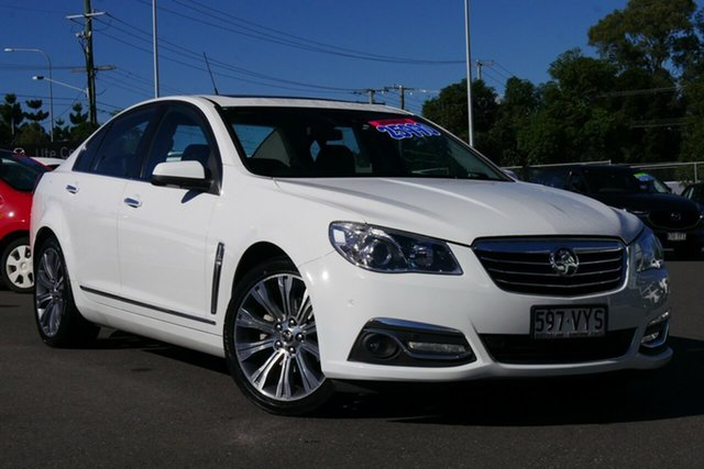 Used Holden Calais VF II MY16 V Hillcrest, 2015 Holden Calais VF II MY16 V Heron White 6 Speed Sports Automatic Sedan