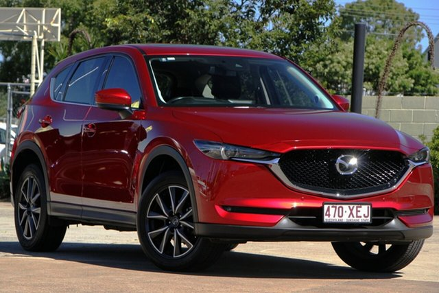 Used Mazda CX-5 KF4WLA GT SKYACTIV-Drive i-ACTIV AWD Bundamba, 2017 Mazda CX-5 KF4WLA GT SKYACTIV-Drive i-ACTIV AWD Red 6 Speed Sports Automatic Wagon