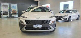 2021 Hyundai Kona Os.v4 MY21 2WD Atlas White 8 Speed Constant Variable Wagon.