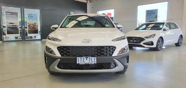 Demo Hyundai Kona Os.v4 MY21 2WD Epsom, 2021 Hyundai Kona Os.v4 MY21 2WD Atlas White 8 Speed Constant Variable Wagon