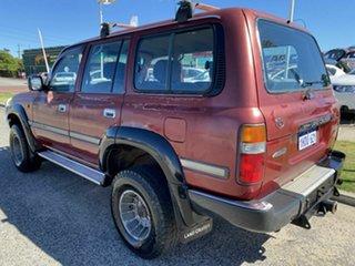 1991 Toyota Landcruiser GXL (4x4) Red 5 Speed Manual 4x4 Wagon.