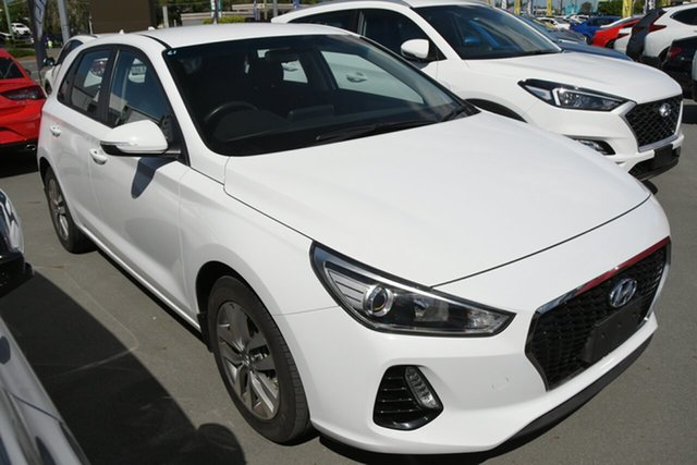 Used Hyundai i30 PD2 MY18 Active D-CT Aspley, 2018 Hyundai i30 PD2 MY18 Active D-CT White 7 Speed Sports Automatic Dual Clutch Hatchback