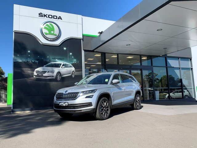 Demo Skoda Kodiaq NS MY20.5 132TSI DSG Botany, 2020 Skoda Kodiaq NS MY20.5 132TSI DSG Silver 7 Speed Sports Automatic Dual Clutch Wagon