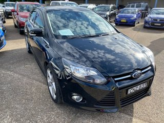 2013 Ford Focus LW MkII Titanium PwrShift Black 6 Speed Sports Automatic Dual Clutch Hatchback.