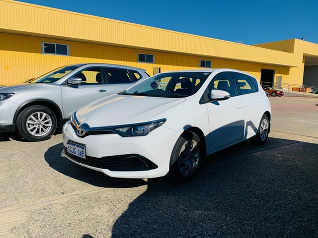 Used Toyota Corolla ZRE182R Ascent S-CVT Canning Vale, 2017 Toyota Corolla ZRE182R Ascent S-CVT White 7 Speed Constant Variable Hatchback
