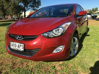 2012 Hyundai Elantra MD Elite Red Allure 6 Speed Sports Automatic Sedan.
