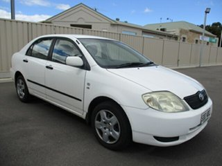 2003 Toyota Corolla ZZE122R Ascent White 4 Speed Automatic Sedan