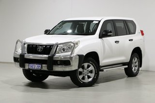 2012 Toyota Landcruiser Prado KDJ150R 11 Upgrade GX (4x4) White 6 Speed Manual Wagon.